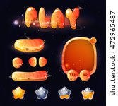 space cartoon game assets set...