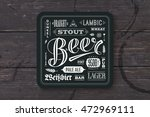 coaster for beer with hand... | Shutterstock .eps vector #472969111