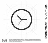 time  clock icon | Shutterstock .eps vector #472974985