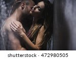 sexy couple embracing and... | Shutterstock . vector #472980505