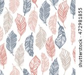 seamless pattern with feathers... | Shutterstock .eps vector #472981855