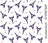 vector eiffel towers romantic... | Shutterstock .eps vector #472987309