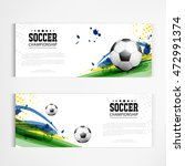 Soccer tournament modern sport banner template vector design. - stock vector