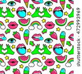 seamless pattern with fashion... | Shutterstock .eps vector #472993969