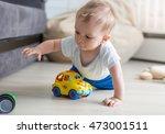 closeup portrait of cute baby... | Shutterstock . vector #473001511