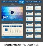 design desk calendar 2017.... | Shutterstock .eps vector #473005711