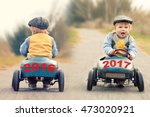 old year 2016 on a vintage old... | Shutterstock . vector #473020921