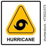 hurricane warning sign. vector... | Shutterstock .eps vector #473021575