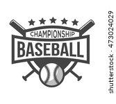 sport baseball logo. black and...   Shutterstock .eps vector #473024029