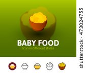 baby food color icon  vector...   Shutterstock .eps vector #473024755