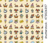 amusement park icons set eps10   Shutterstock .eps vector #473026357
