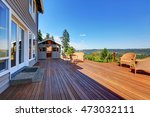large walkout deck with wicker... | Shutterstock . vector #473032111