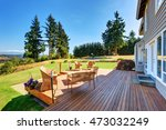 large walkout deck with wicker... | Shutterstock . vector #473032249