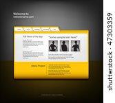 web site design template ...   Shutterstock .eps vector #47303359