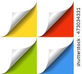curled corner of white paper... | Shutterstock .eps vector #473034331