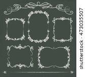 hand drawn chalkboard frames | Shutterstock .eps vector #473035507