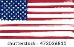 usa flag with ink grunge... | Shutterstock .eps vector #473036815