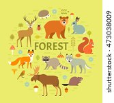 vector concept with forest... | Shutterstock .eps vector #473038009
