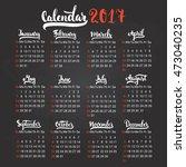 Calendar 2017 Design Template...