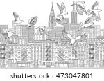 new york city  usa   hand drawn ... | Shutterstock .eps vector #473047801