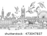 london  uk   hand drawn black... | Shutterstock .eps vector #473047837