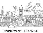 london  uk   hand drawn black... | Shutterstock .eps vector #473047837