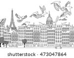 paris  france   hand drawn... | Shutterstock .eps vector #473047864