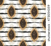autumn seamless pattern with... | Shutterstock .eps vector #473054359