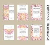 set of business cards. vintage...   Shutterstock .eps vector #473066065