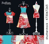 vector fashion collection with... | Shutterstock .eps vector #473067265