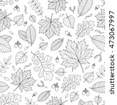 autumn seamless pattern with... | Shutterstock .eps vector #473067997