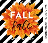 autumn sale flyer template with ... | Shutterstock .eps vector #473077795