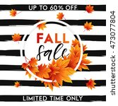 autumn sale flyer template with ... | Shutterstock .eps vector #473077804