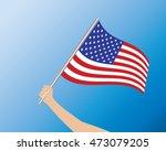 usa flag in hand | Shutterstock .eps vector #473079205
