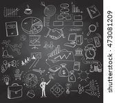 hand drawn business icons set... | Shutterstock . vector #473081209