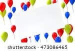 3d render celebration flying... | Shutterstock . vector #473086465