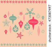 vector christmas background in... | Shutterstock .eps vector #473087497