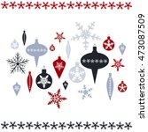vector christmas background ... | Shutterstock .eps vector #473087509