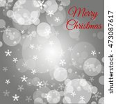 christmas grey background with... | Shutterstock .eps vector #473087617