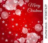 christmas red background  | Shutterstock .eps vector #473087629