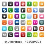 multimedia symbols  sound... | Shutterstock .eps vector #473089375