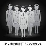group of woman. vector... | Shutterstock .eps vector #473089501