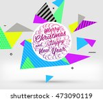 christmas and new year 2017... | Shutterstock .eps vector #473090119