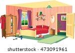 bedroom scene. | Shutterstock .eps vector #473091961