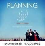 planning ideas mission planning ... | Shutterstock . vector #473095981