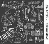 hand drawn music set. | Shutterstock . vector #473101759