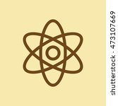 atom icon. | Shutterstock .eps vector #473107669