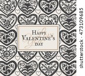 valentine's card with... | Shutterstock .eps vector #473109685