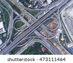 highway junction from aerial...   Shutterstock . vector #473111464