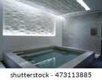 modern concrete house   indoor... | Shutterstock . vector #473113885